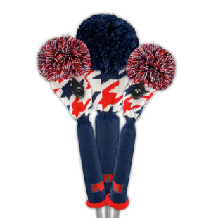 Loudmouth Golf Headcover Set - Red Blue Tooth