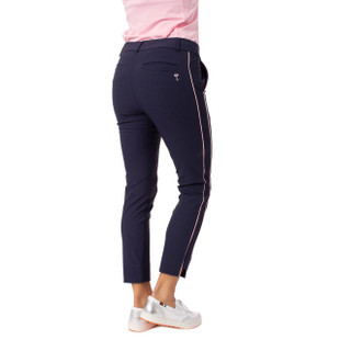 Golftini Stretch Ankle Pant - Navy/Pink