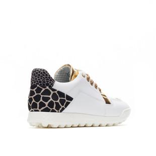 Vinci White / Gold Golf Shoe
