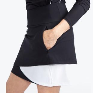 Wrap It Up Golf Skort - Black/White