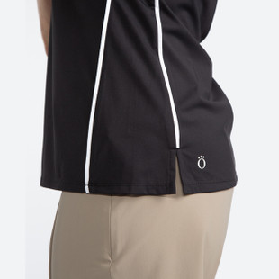 Keep it Covered Short Sleeve Mock - Black