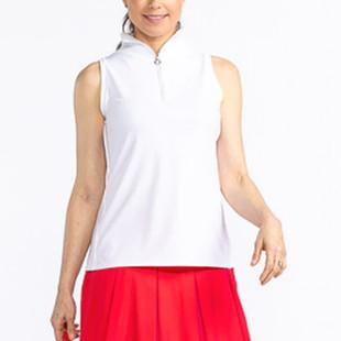 KINONA Keep it Covered Sleeveless Mock - White/White