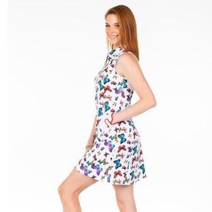 Amy Sport Frontline Sleeveless Golf Dress - Butterfly