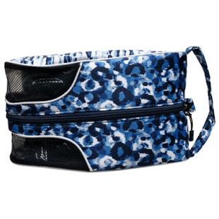 Shoe Bag - Blue Leopard