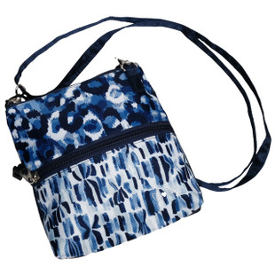 2-Zip Carry All Bag - Blue Leopard