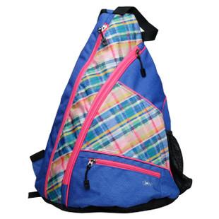 Pickleball Sling Bag - Plaid Sorbet