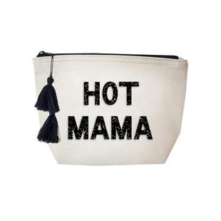 Fallon & Royce Black Crystal Cosmetic Bag - Hot Mama