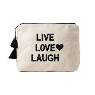 Fallon & Royce Black Crystal Clutch - Live Love Laugh