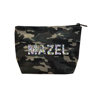 Fallon & Royce Camo Confetti Bead Cosmetic Case - Mazel