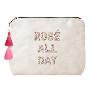 Fallon & Royce Confetti Bead Clutch - Rose All Day