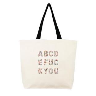 Fallon & Royce Confetti Bead Tote - ABCDEFUCKYOU