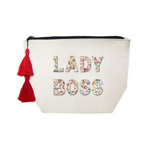 Fallon & Royce Confetti Bead Cosmetic Case - Lady Boss