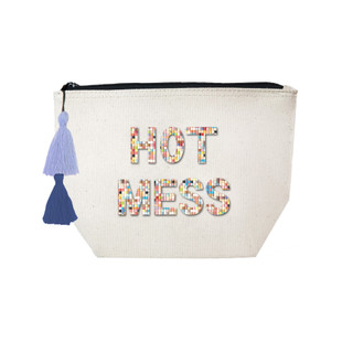 Fallon & Royce Confetti Bead Cosmetic Case - Hot Mess