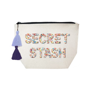 Fallon & Royce Confetti Bead Cosmetic Case - Secret Stash