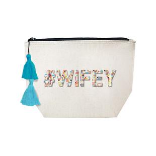 Fallon & Royce Confetti Bead Cosmetic Case - #Wifey