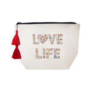 Fallon & Royce Confetti Bead Cosmetic Case - Love Life