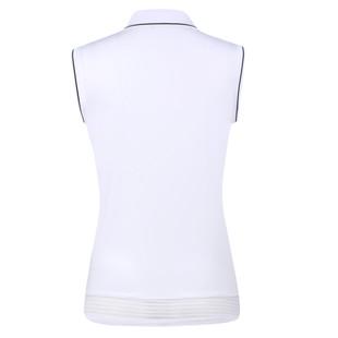 Nilla Sleeveless Polo - White