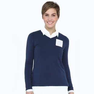 BelynKey V-Neck Pullover - Ink/Chalk