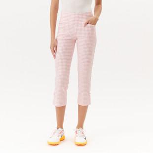 Masters Crop Capri - Pink Gingham