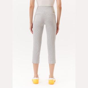 Masters Crop Pant - White/Black Stripe
