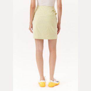 Basic Ruffle Golf Skort - Yellow Stripe