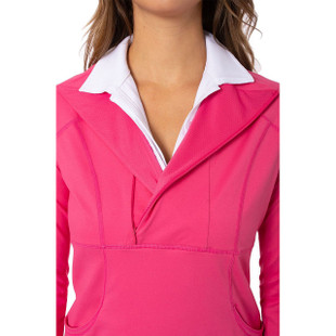 Contrast Quarter Zip Pullover