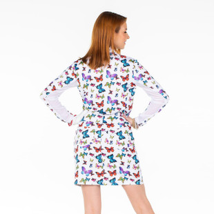 Amy Sport Katelyn Long Sleeve Mock - Butterfly