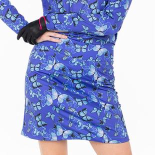 Amy Sport Monarch Beach Skort - Blue Butterfly