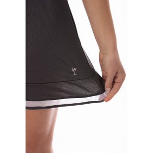 Golftini Pull-On Ruffle Stretch Skort - Top Golf Charcoal Grey
