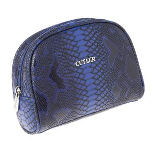 Cutler Gleneagles Blue Croc Cosmetic Case