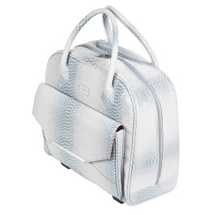 Cutler Galapagos White Snake Lux Rolling Tote