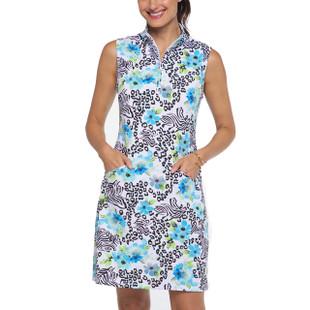 IBKUL Eva Sleeveless Mock Dress