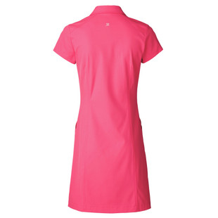 Daily Sports Lyric Short Sleeve Golf Dress - Fruit Punch