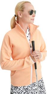 Abacus Sunningdale Knit Fleece Jacket - Apricot