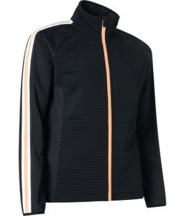 Abacus Turnberry 3D Stripe Fleece Jacket - Black/Apricot