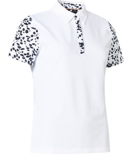 Abacus Anne Short Sleeve Polo - Black/White