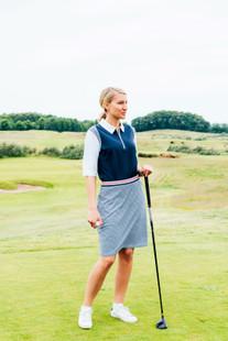 Abacus Anne Golf Skort - Black/White