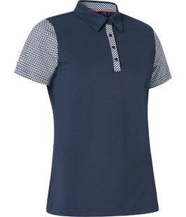 Abacus Anne Short Sleeve Polo - Navy/White