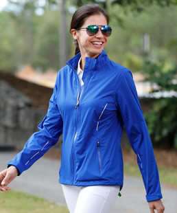 Sunice Onassis Zephal Stretch Rain Jacket - Oyster/Blackberry