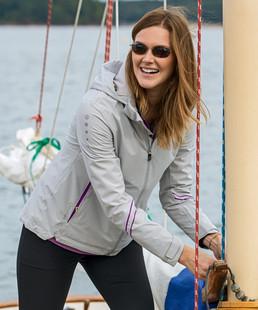 Sunice Robin Zephal Rain Jacket w/ Hood - Oyster/Wildberry