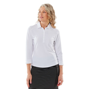 Nancy Lopez Journey 3/4 Sleeve Polo (Fashion Colors)