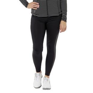 Nancy Lopez Power Legging - Black/White Stripe