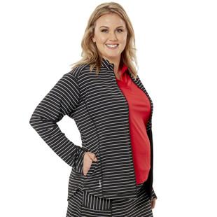 Nancy Lopez Jazzy Stretch Jacket - Black/White Stripe
