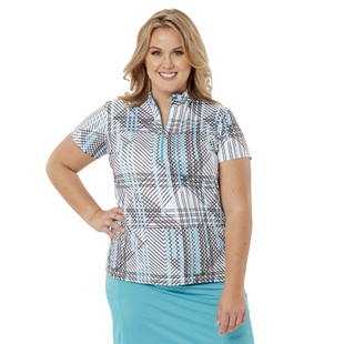 Nancy Lopez Glide Short Sleeve Mock (Fashion Colors)