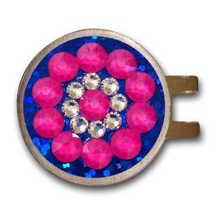 Blingo Ballmarker - Neon Pink/Blue Glitter