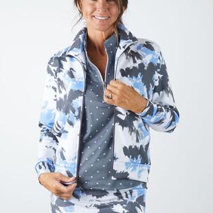 Amy Sport Frontline Sleeveless Mock - Mystic Blue Tie Dye