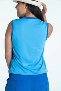 KINONA Free and Easy Sleeveless Top - Cornflower Blue