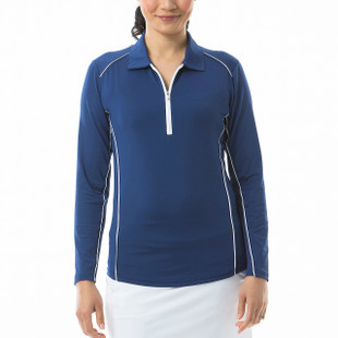 SanSoleil SunGlow Long Sleeve Piping Polos