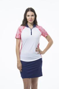 SanSoleil SolCool Short Sleeve Mock - Gabby