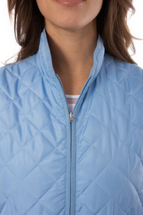 Golftini Quilted Wind Vest - Sky Blue